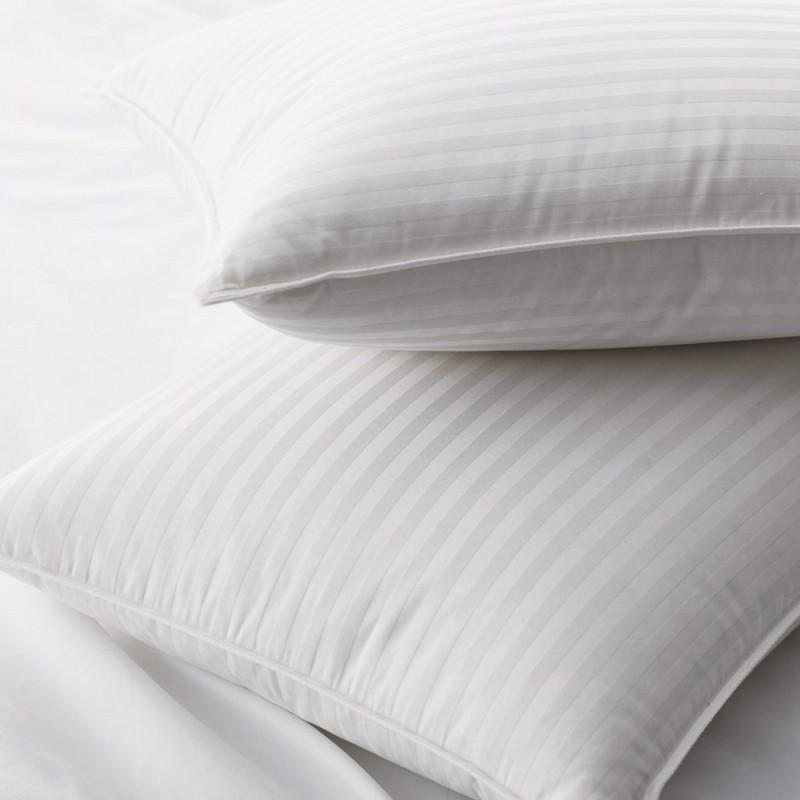 90% λευκά μαξιλάρια πάπιας κάτω με ύφασμα μήκους 1cm δαχτυλιδιού Damask