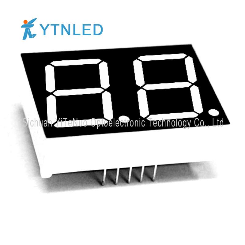 0,8 ιντσών 2 ψηφίων κόκκινο 7 τμήματα LED οθόνη, ψηφιακό σωλήνα