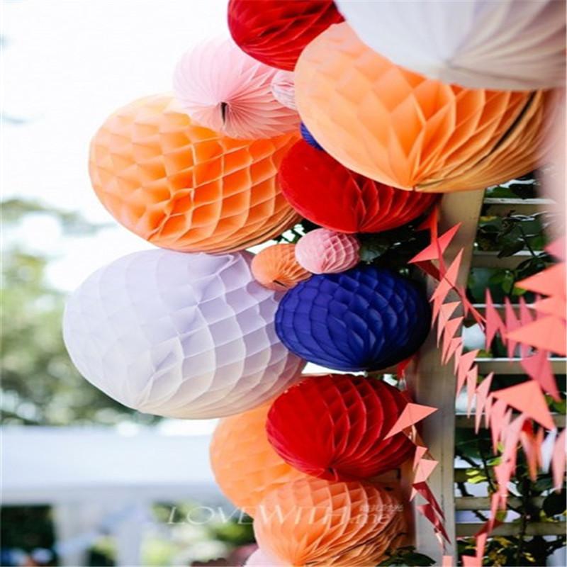 Διακόσμηση διακοσμητικών συμβαλλόμενων μερών, συμπεριλαμβανομένου Pom Flower γύρο χαρτιού ανεμιστήρα χαρτί πολύχρωμο λαξευμένο για τα γενέθλια