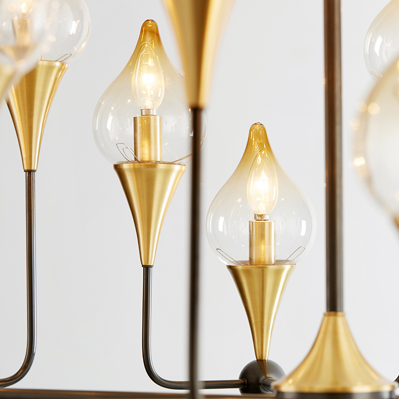Σκανδιναβικός σύγχρονος δημιουργικός γυαλί πολυέλαιος προσωπικότητας σιδήρου
