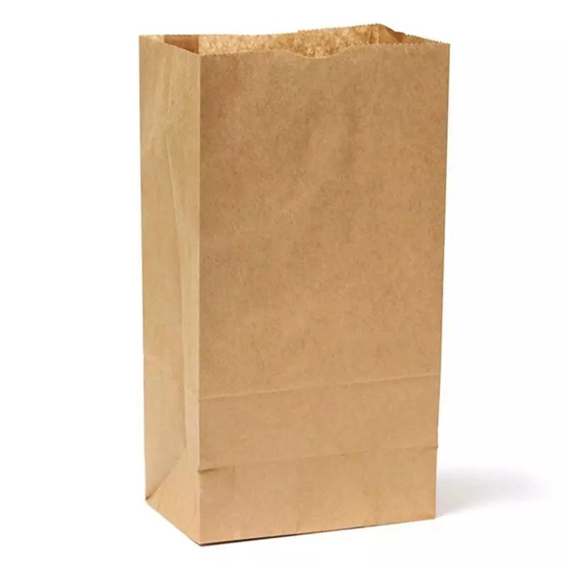 τσάντα χαρτί τσάντα τροφίμων τσάντα καφέ ανακυκλωμένο πολυτελές ψώνια σούπερ μάρκετ σακούλα χαρτί