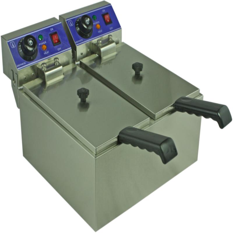 ηλεκτρική φριτέζα δύο δεξαμενές