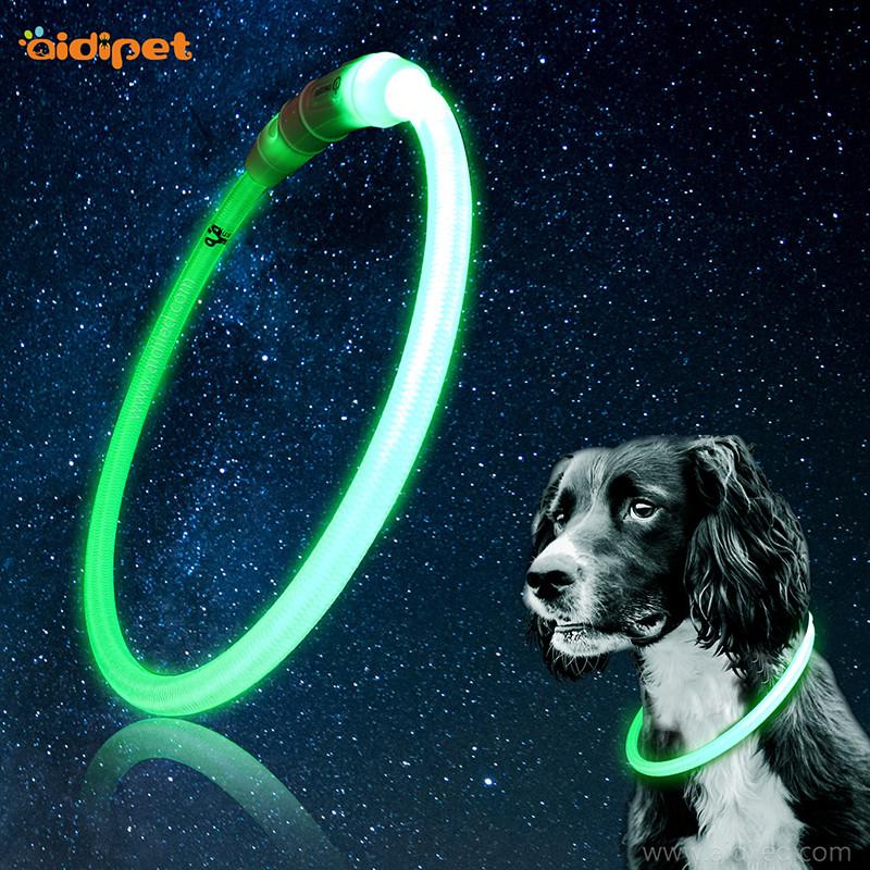 LED νάυλον φωτίζει περιλαίμιο σκυλιών Σωληνωτό σχήμα πεταλούδα κοπής ελεύθερα