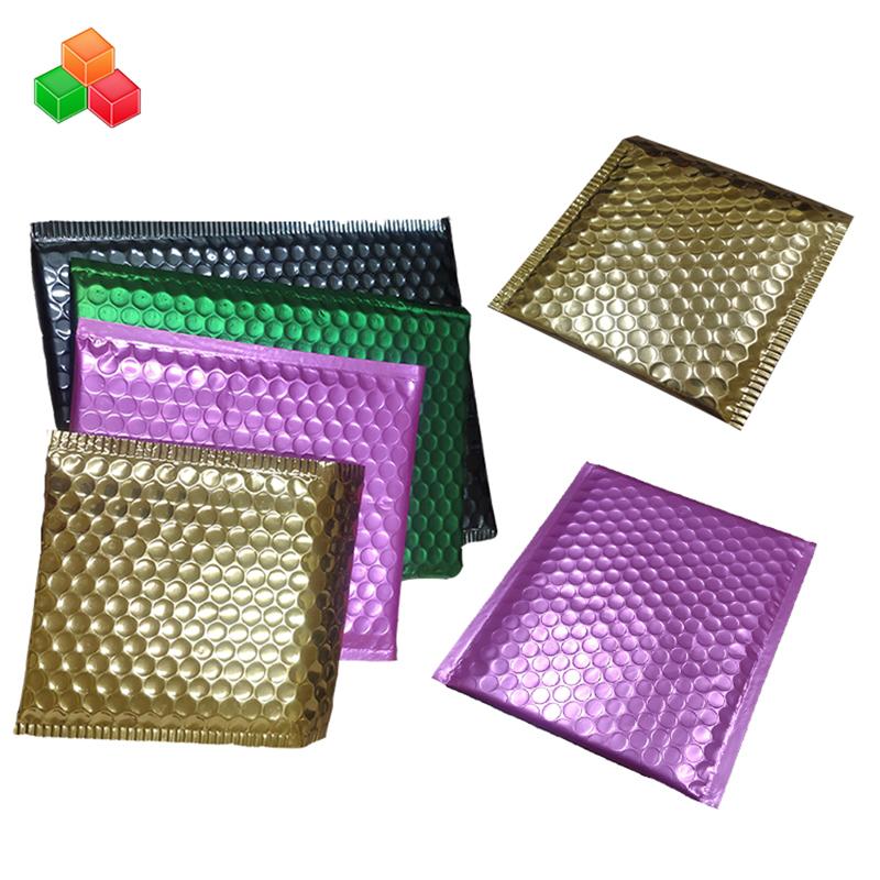 OEM εξατομικευμένες γεμισμένες πλαστικές σακούλες αλληλογραφίας τυπωμένες αλουμινίου αέρα φούσκα mailer τσάντα ασφάλεια shockproof πακέτο φούσκα συσκευασίας