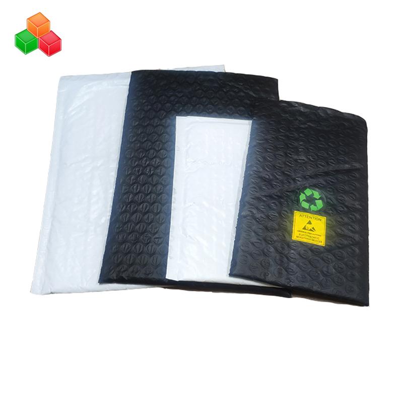 Προσαρμοσμένο τυπωμένο λογότυπο φούσκα λογότυπο αντιδιαρρηκτικός γεμισμένη πλαστική σακούλα / co εξωθημένο πολυ αλουμινόχαρτο φούσκα αέρα τσάντα περιτύλιγμα
