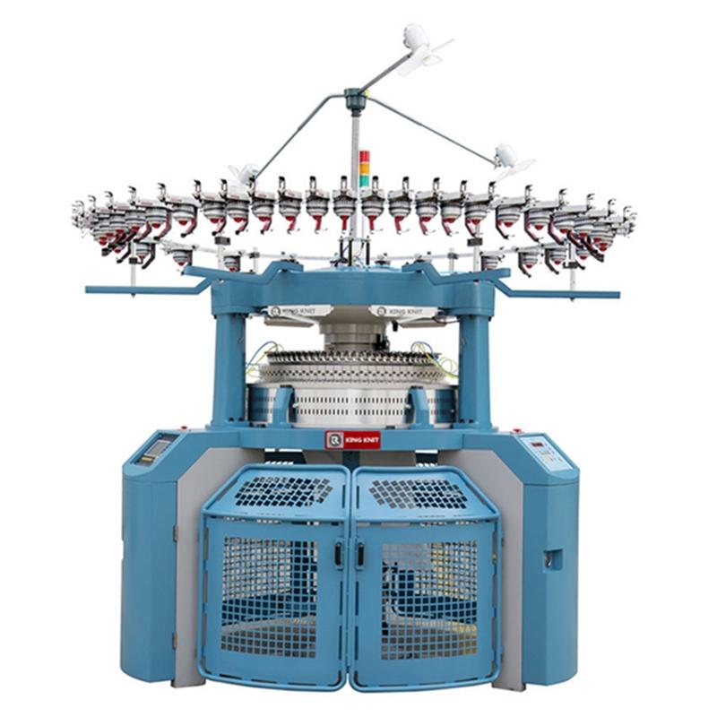 Πλήρως μηχανογραφημένη κυκλική μηχανή πλεξίματος πλευρών