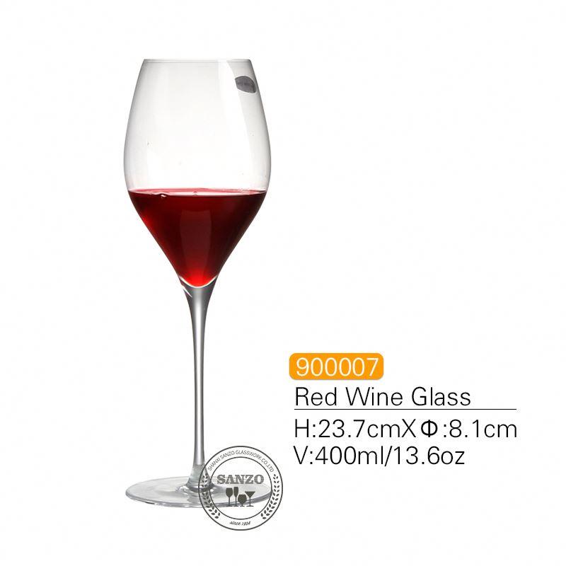 SANZO μαύρο στέλεχος Lismore μπαλόνι κρασιού γυαλί χειροποίητο μολύβι ελεύθερα κρυστάλλινα χαραγμένα γυαλιά χοντρά γυαλιά