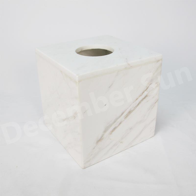 Λευκό μαρμάρινο αξεσουάρ μπάνιου