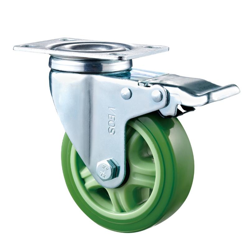 Μεσαίο καθήκον - Επιχρωμιωμένο περίβλημα με πράσινο τροχό TPE