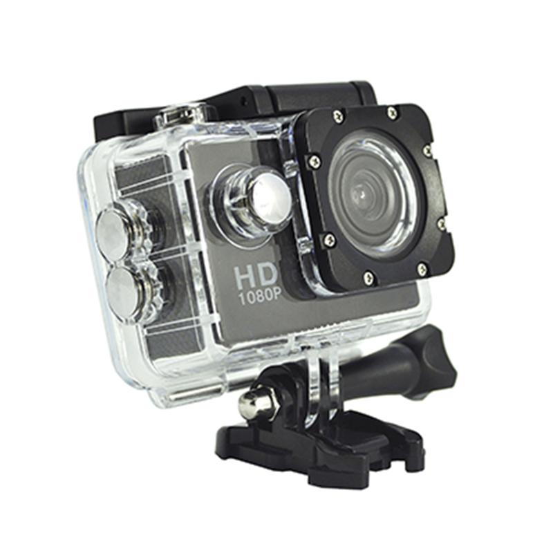 Φορητή φωτογραφική μηχανή δράσης Real HD 720P 140 μοιρών Προβολή γωνίας οθόνης 2.0 ιντσών D12A