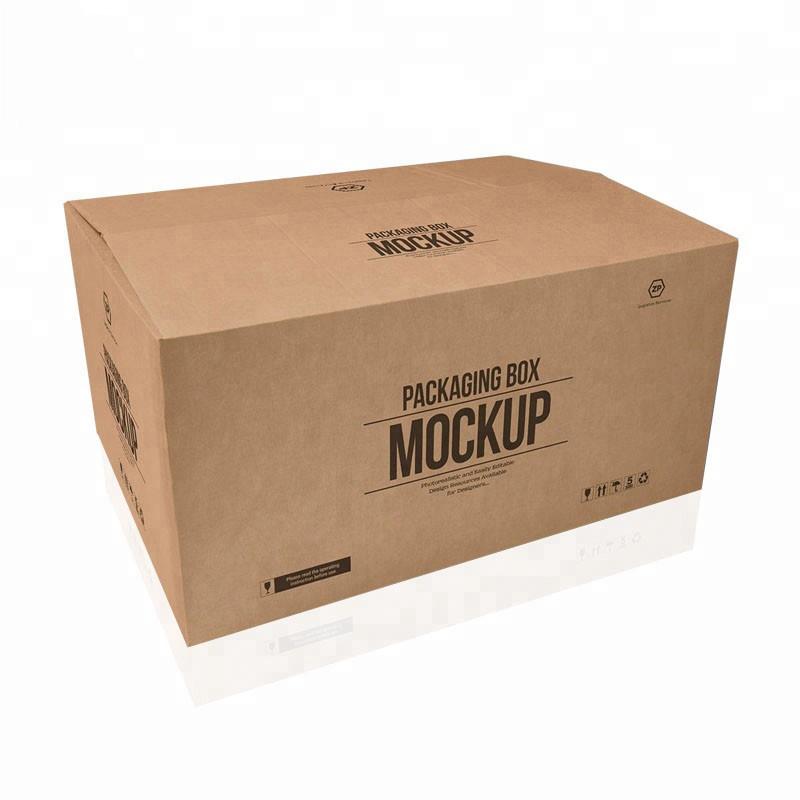 Ζεστό πώλησης έθιμο μεγάλο 5 στρώματα λογότυπο μάρκα εκτύπωση kraft χαρτί ναυτιλία παράδοση μεγάλο κουτί