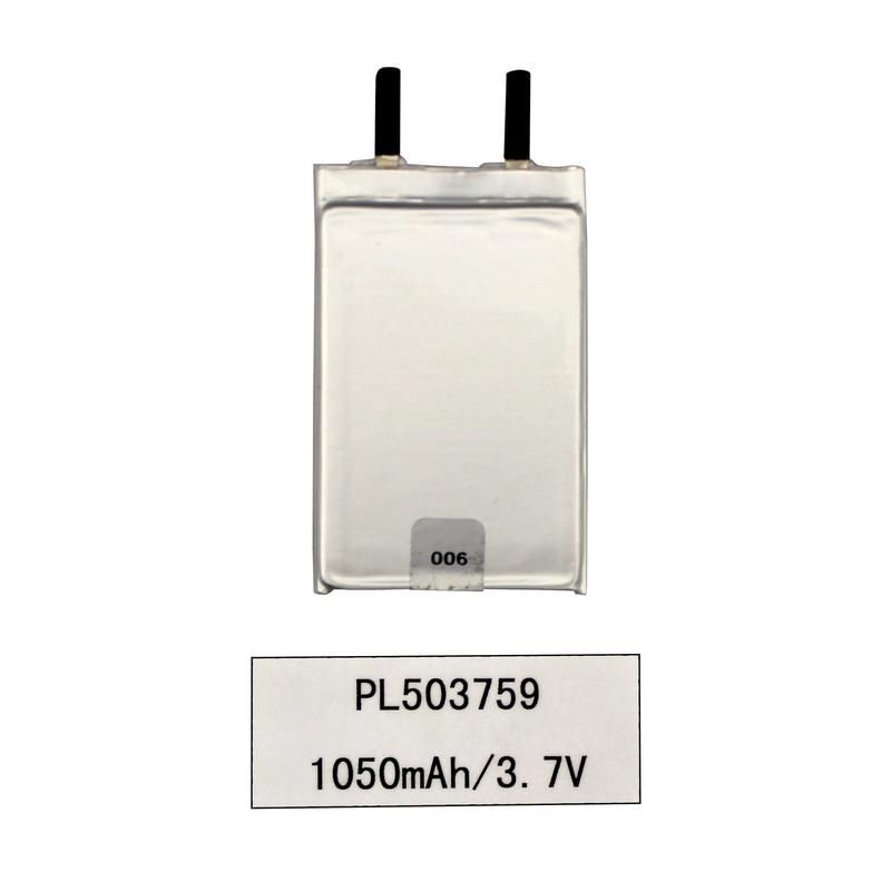 3.7V μπαταρία λιθίου πολυμερούς πολυμερούς 1050mAh λιθίου