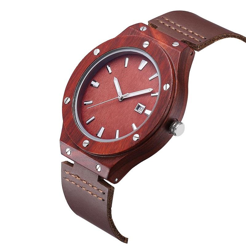 Καρπό ρολόι ξύλου και καλύτερο δερμάτινο ζευγάρι ρολόι καρπό ρολόι