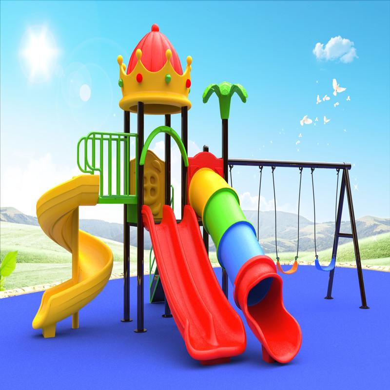 υπαίθρια στέγη στέγη σπίτι παιχνιδιού παιδική χαρά με παιδικό παιχνίδι swing slide για παιδιά