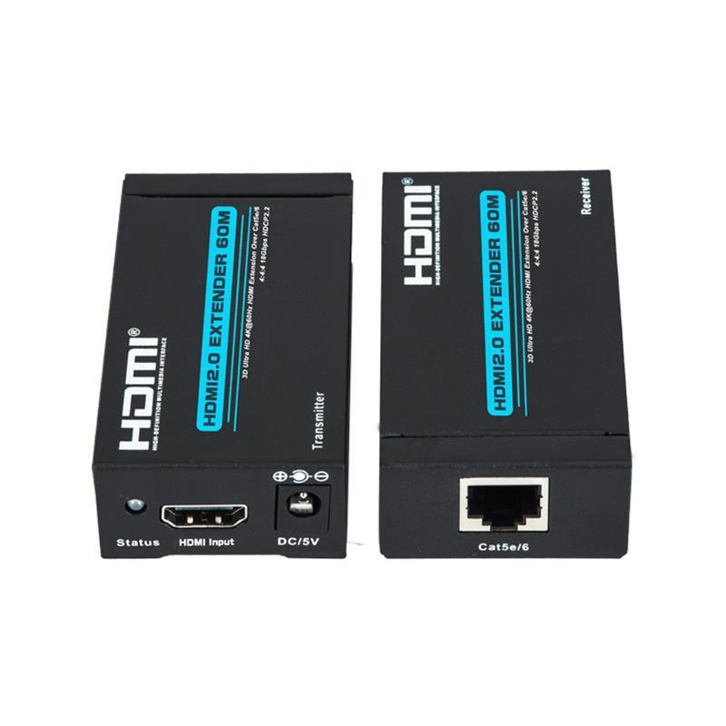 Νέο προϊόν V 2.0 HDMI extender 60m πάνω από ένα cat5e \/ 6 υποστήριξη Ultra HD 4Kx2K @ 60Hz HDCP2.2