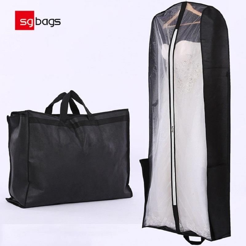 Χονδρική Προσαρμοσμένη νυφική τσάντα σκόνης τσάντα ρούχα γαμήλια εσθήτα