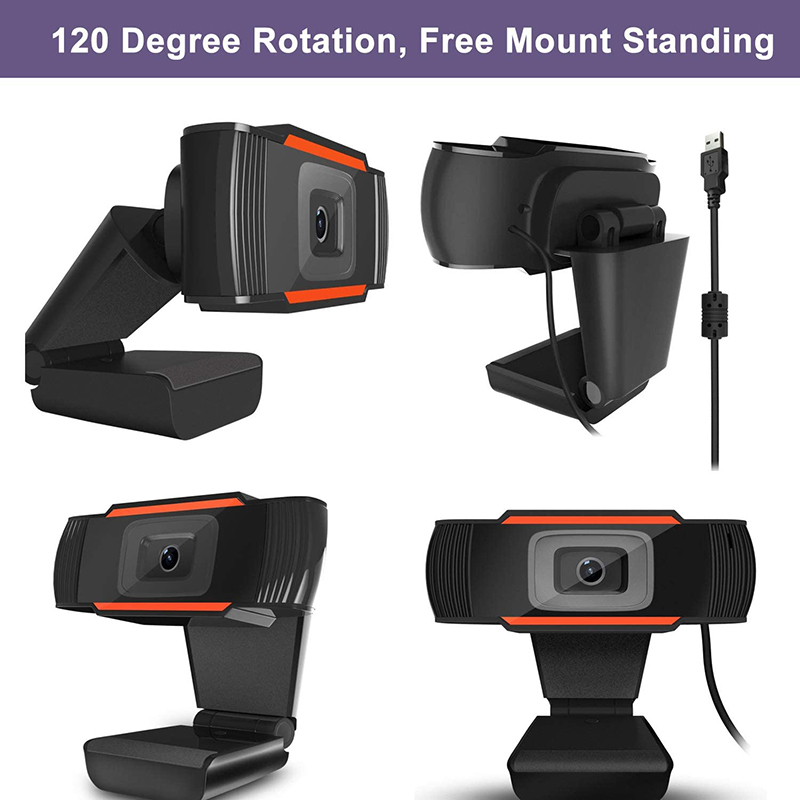 HD 1080P Υπολογιστής webcam PC Desktop Rotable USB 2.0 Κάμερα με Ψηφιακή Μικρόφωνο