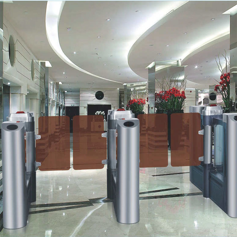 High Class swing barrier που χρησιμοποιείται σε ξενοδοχείο